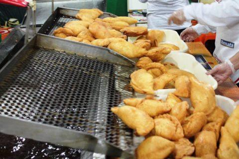 A fogazza é uma das grandes atrações da festa no Bixiga