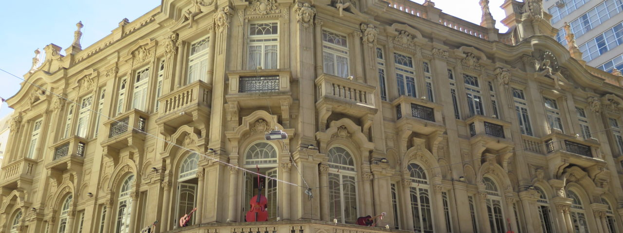 Palacete Teresa, construído em 1910 e recentemente restaurado. Foto: Denize Bacoccina