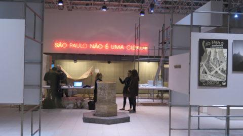 Montagem de São Paulo não é uma cidade, exposição inaugural sobre a capital paulista. Foto: Denize Bacoccina