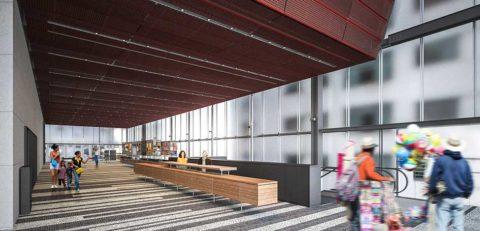 Praça interna será o principal local de encontro no IMS Paulista