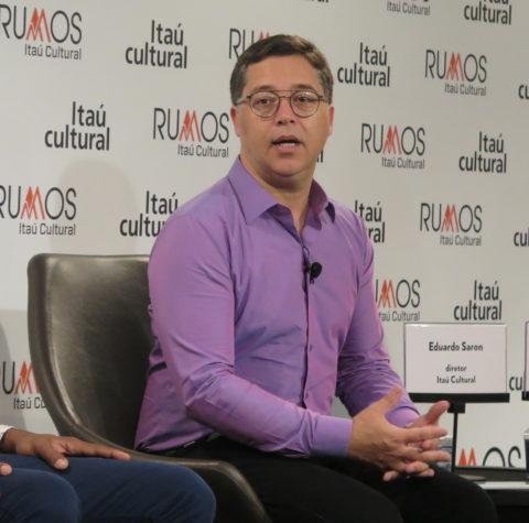 Eduardo Saron, diretor do Itaú Cultural, fala sobre o edital de seleção do projeto Rumos. Foto: Denize Bacoccina