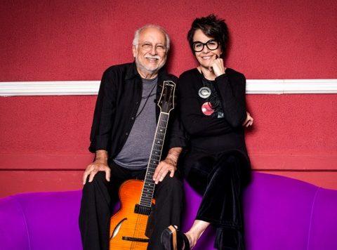 Roberto Menescal e Leila Pinheiro, juntos em show no CCBB. Foto: Washington Possato