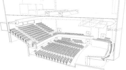 Nova sala de concerto do Teatro Cultura Artística. Imagem: Akustiks Acústica&Sônica