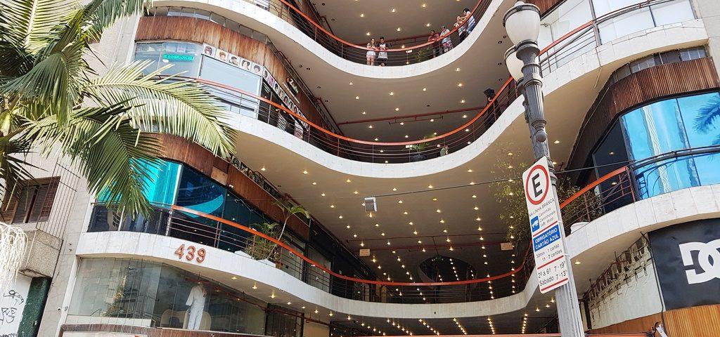 Galeria do Rock: prédio projeto em 1961 se mantém moderno e impressiona até hoje. Foto: Clayton Melo