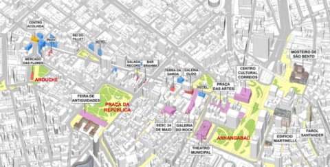 No projeto de Jaime Lerner Avenida São João seria dos pedestres aos domingos