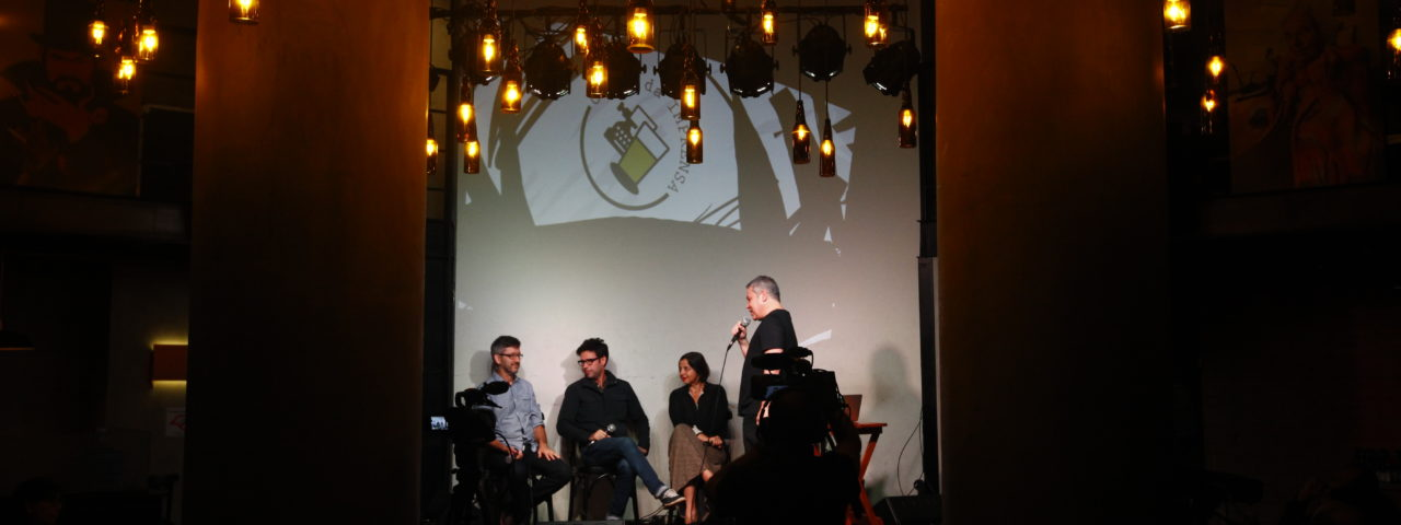 Primeiro debate do Clube da Imprensa, com Carla Jimenez, Fernando Luna, Sergio Ludtke, e Helio Gomes (mediador) Foto: Cesar Itiberê/FotosPublicas