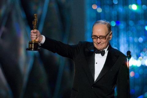 Ennio Morricone, na cerimônia de entrega do Oscar