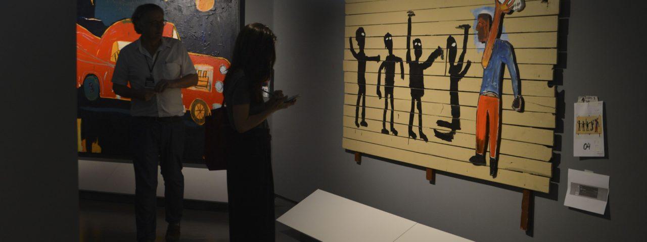 Exposição Jean-Michel Basquiat, com curadoria de Pieter Tjabbes. Foto: Rovena Rosa/Agência Brasil