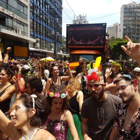 Blocos de rua levam multidão ao centro de São Paulo