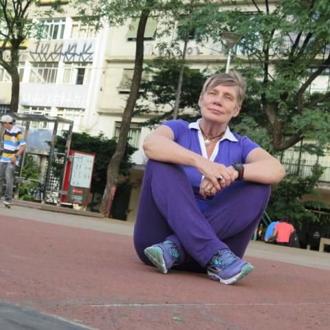 Luiza Pastor, moradora da Praça Roosevelt
