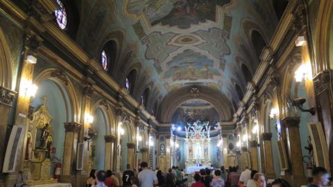 Interior da Igreja Santa Cruz das Almas dos Enforcados