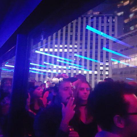 Pista de dança no 9º andar