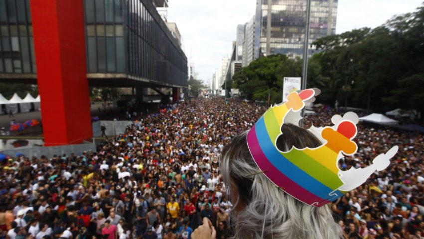 A 21ª Parada do Orgulho LGBT de São Paulo neste domingo Foto: Cesar Itiberê / Fotos Públicas