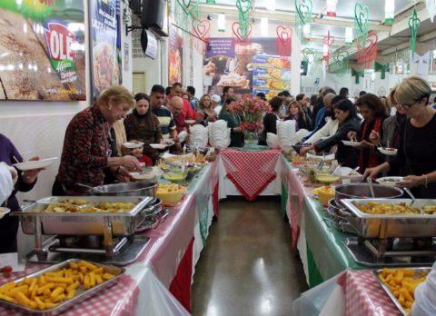 Pratos típicos italianos servidos na Festa da Achiropita