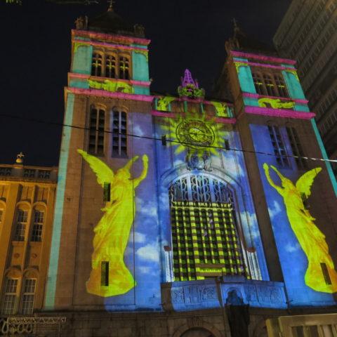 Videomapping no Mosteiro de São Bento no Festival de Natal