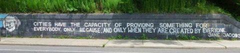Grafite de Jane Jacobs Imagem: occassionaltoronto.blogspot.ca