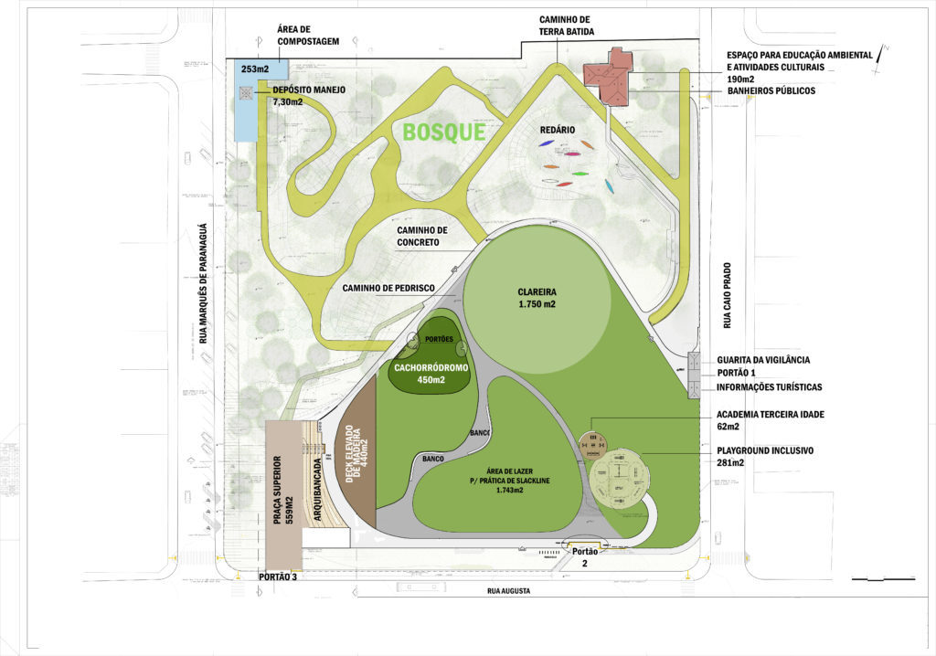 Projeto preliminar do Parque Augusta