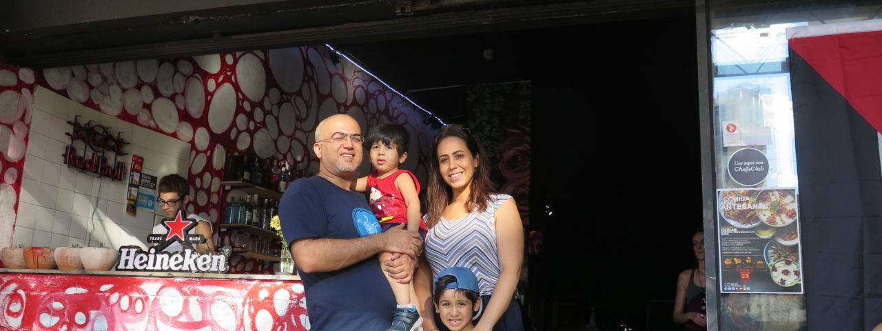 Salim e Oula - casal de palestinos no Centro de São Paulo
