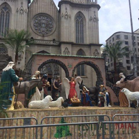 Presépio gigante - presépios no Centro de São Paulo