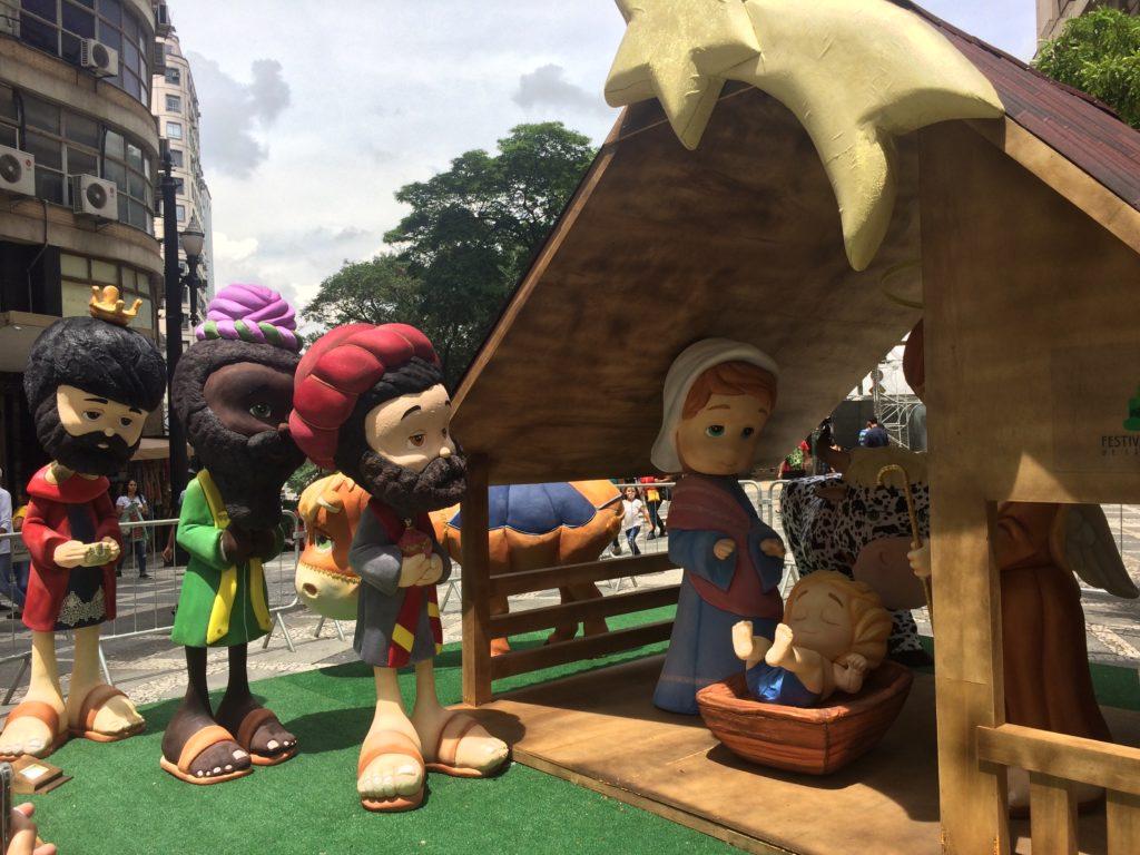 presépios no centro de São Paulo - presépio infantil