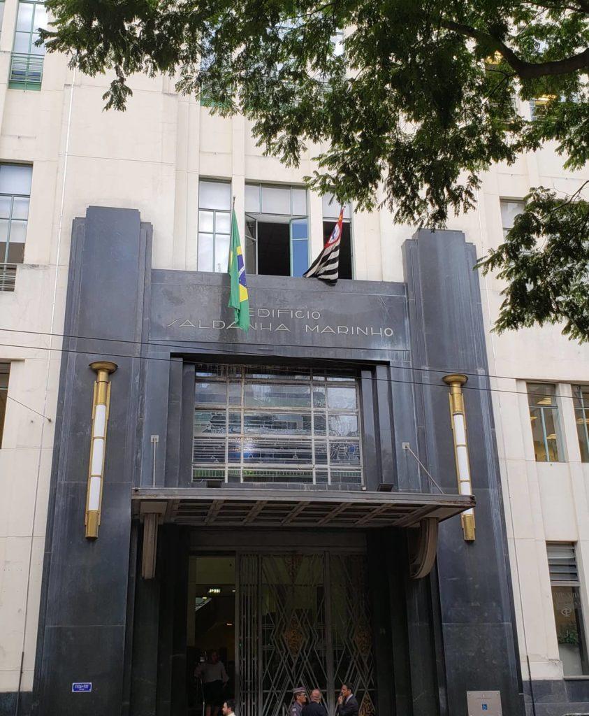 ramos de café nas fachadas - Edifício Saldanha Marinho