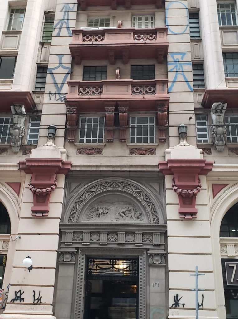 ramos de café nas fachadas - Palacete Chavantes